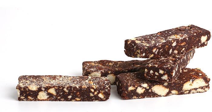 Barres de saucisson au chocolat